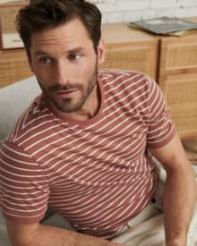 Striped Short Sleeve Crew-Neck T-Shirt