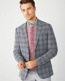 Slim Fit blue check blazer