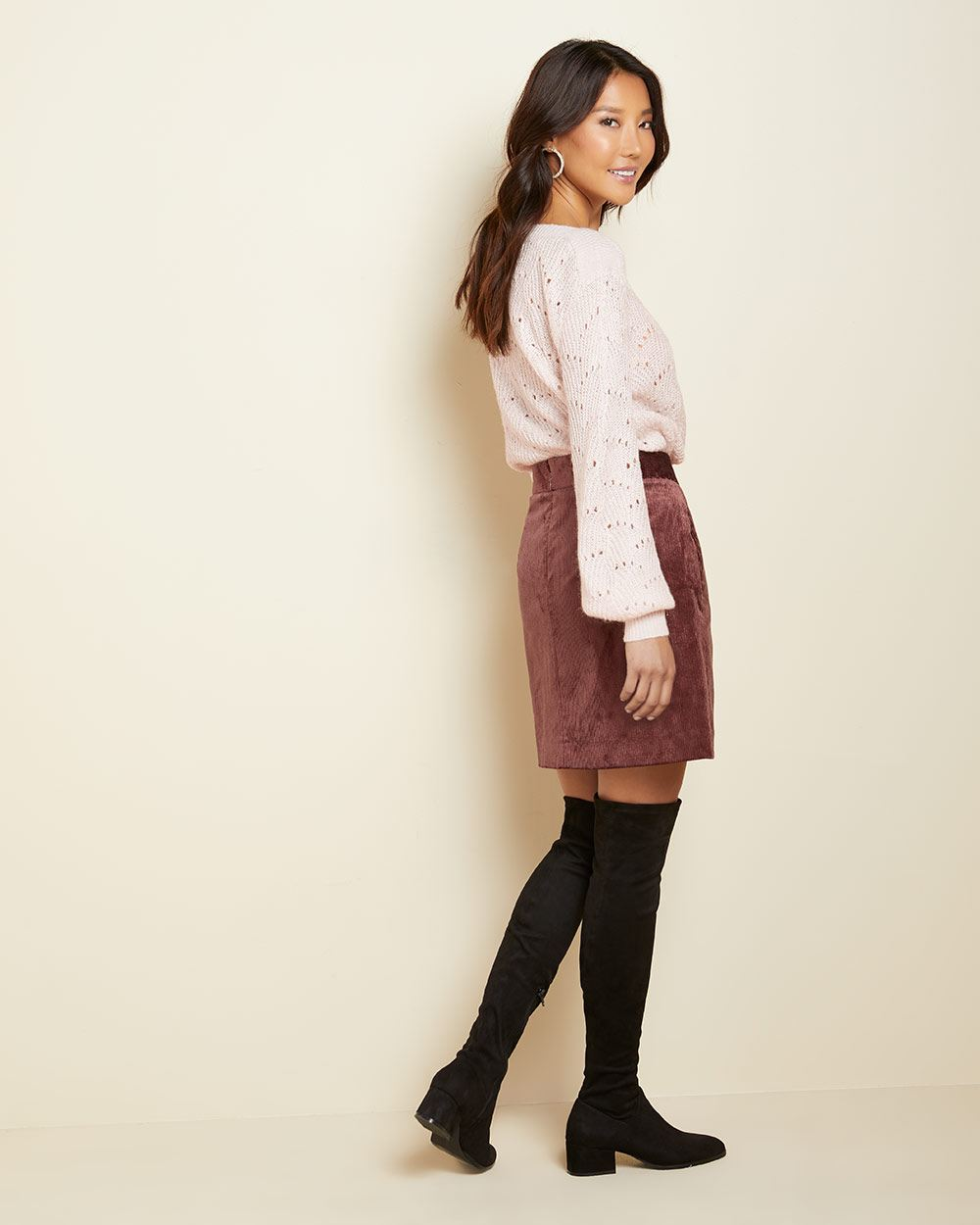 Short corduroy skirt