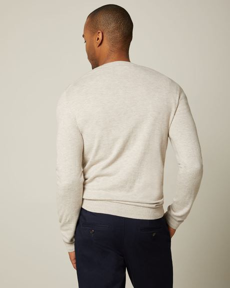 Crew-neck jersey sweater