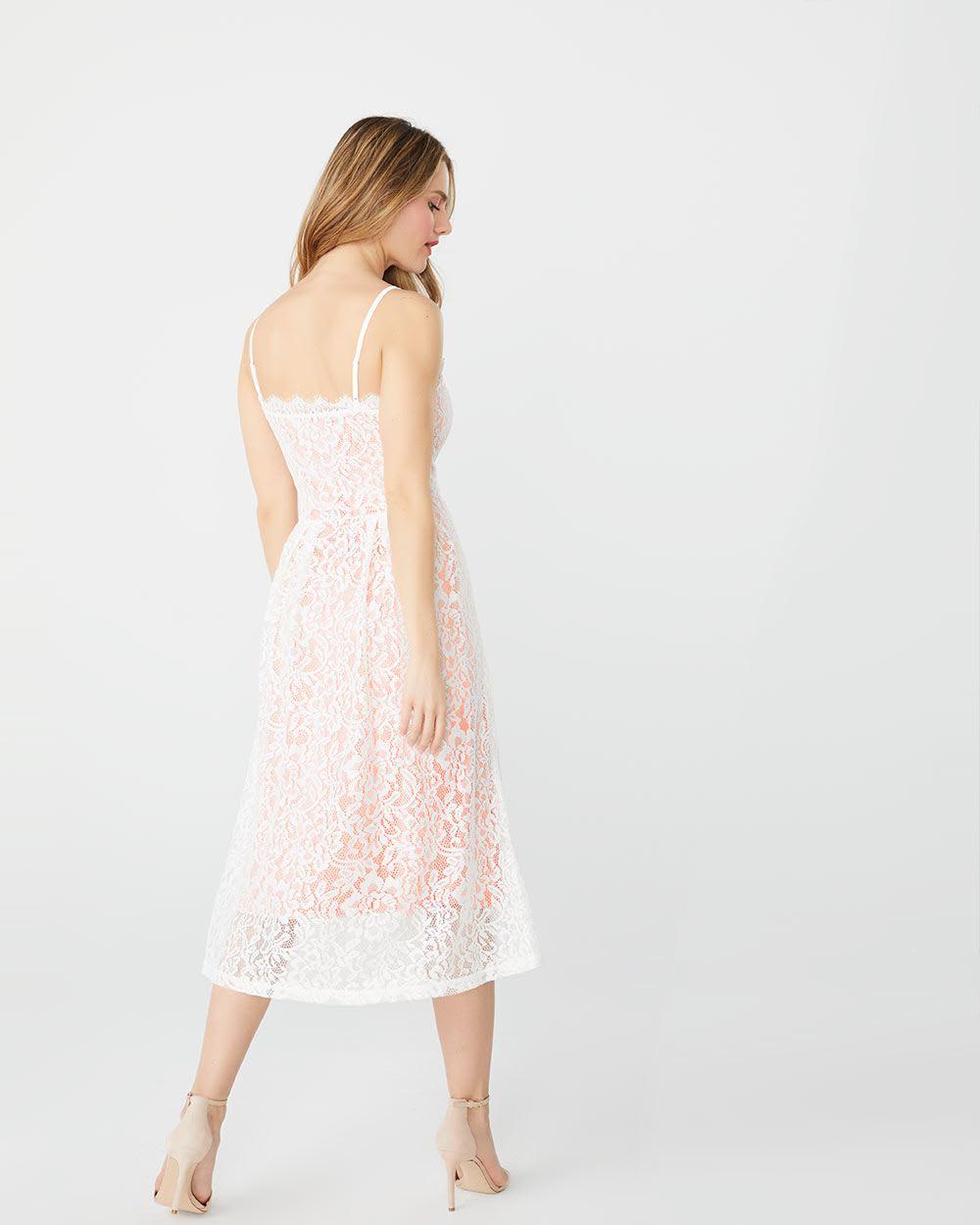 1b5329d4bad ABS by Allen Schwartz lace fit   flare midi dress