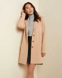 Button-down sweater coat