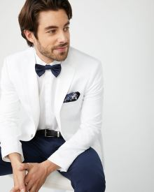 Slim fit white suiting blazer