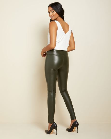 High-waist faux leather legging pant