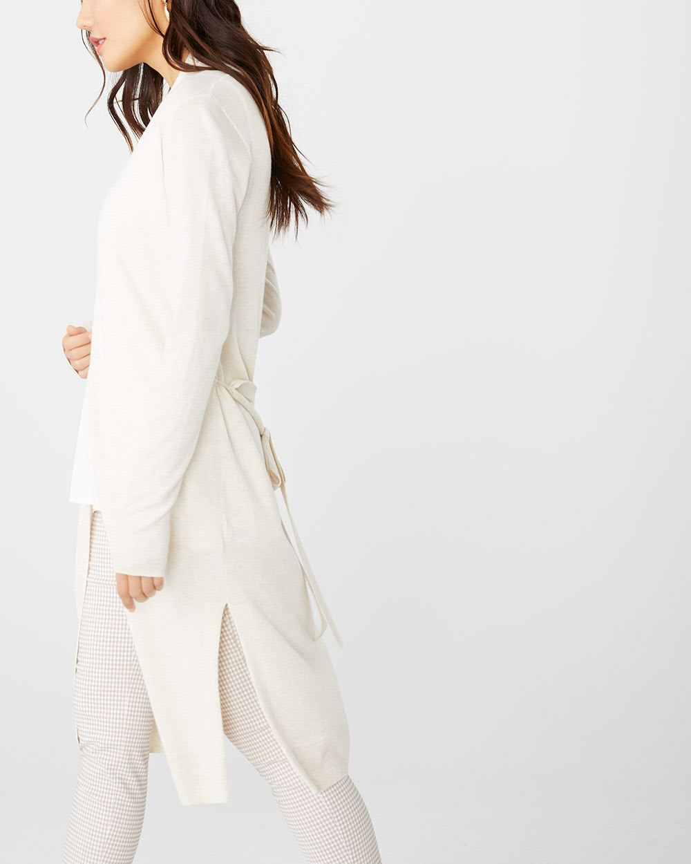 C&G Cashmere-like Belted duster cardigan