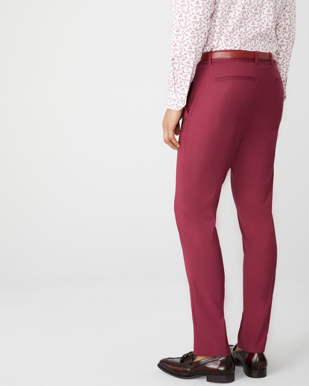 Slim Fit berry red suit Pant
