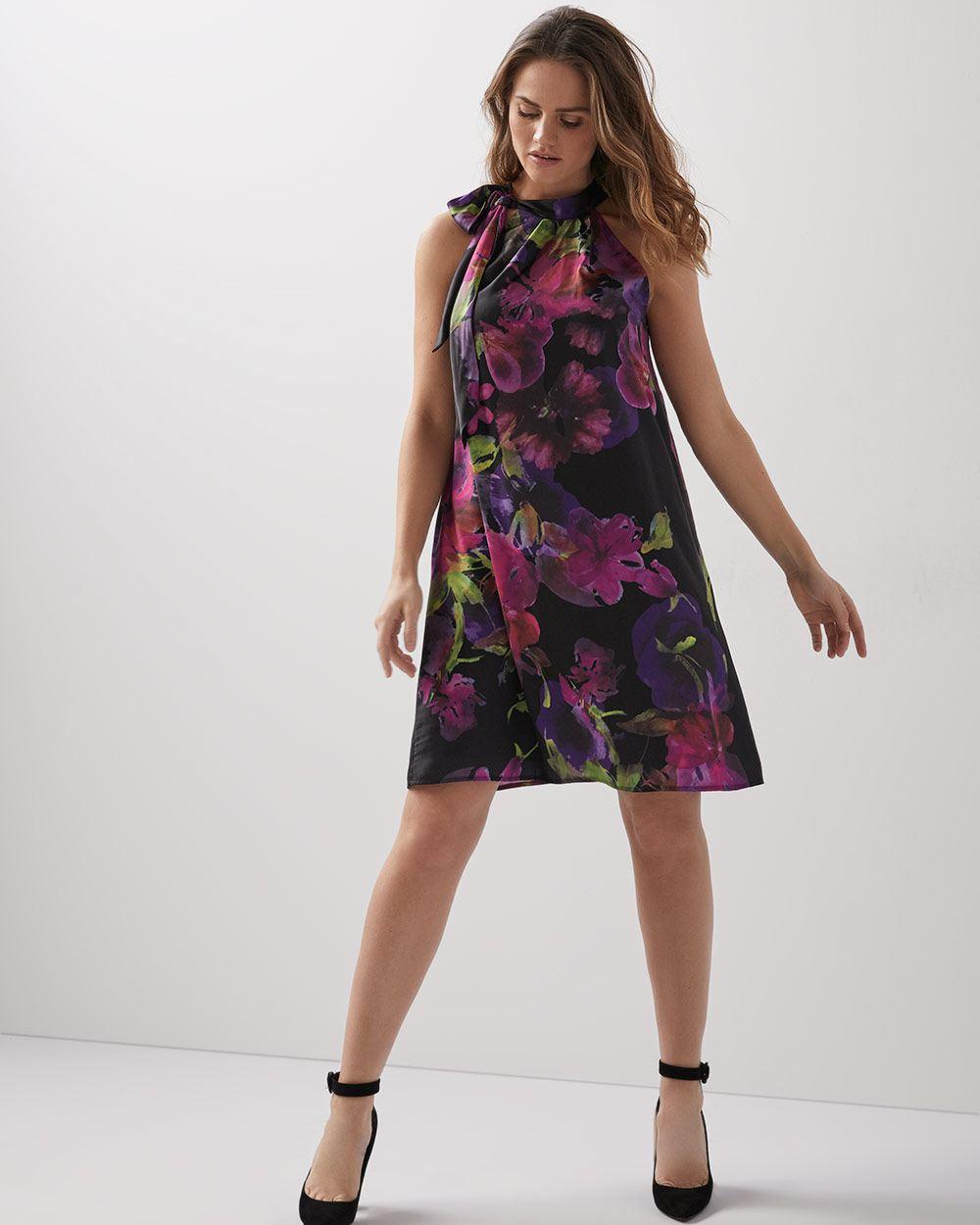 9af9a051b0ca Floral halter-neck shift dress | RW&CO.