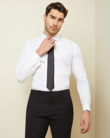 Tailored fit dress shirt with french cuff
