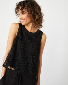 Sleeveless crochet lace top