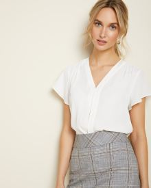 Pleated Short sleeve blouse
