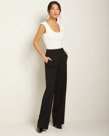 Stretch High-waist Signature fit wide leg Pant