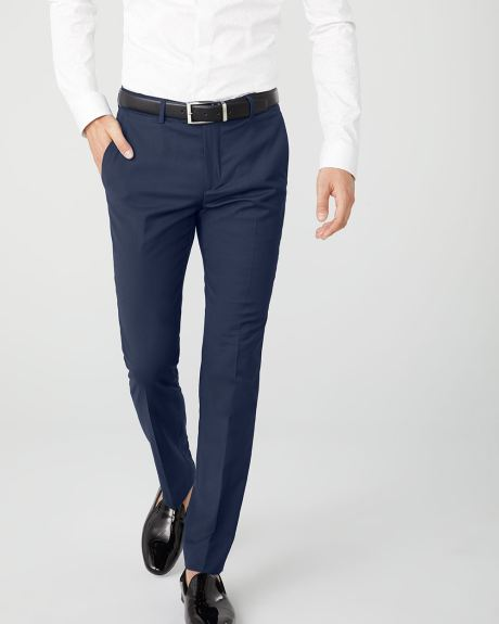 Slim fit navy blue suit pant