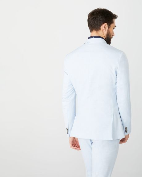 Slim fit light blue suit blazer