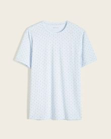 Rib-Trimmed Short Sleeve T-Shirt