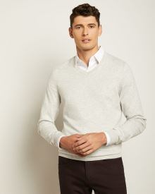 Rib-trimmed V-neck Sweater