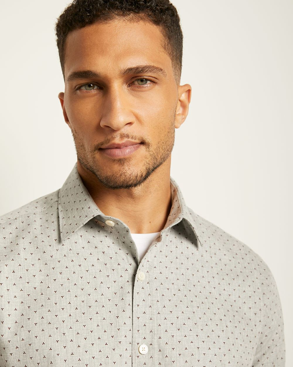 Tailored Fit Geo Flannel Shirt
