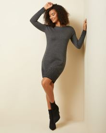 Sparkly jacquard sweater dress