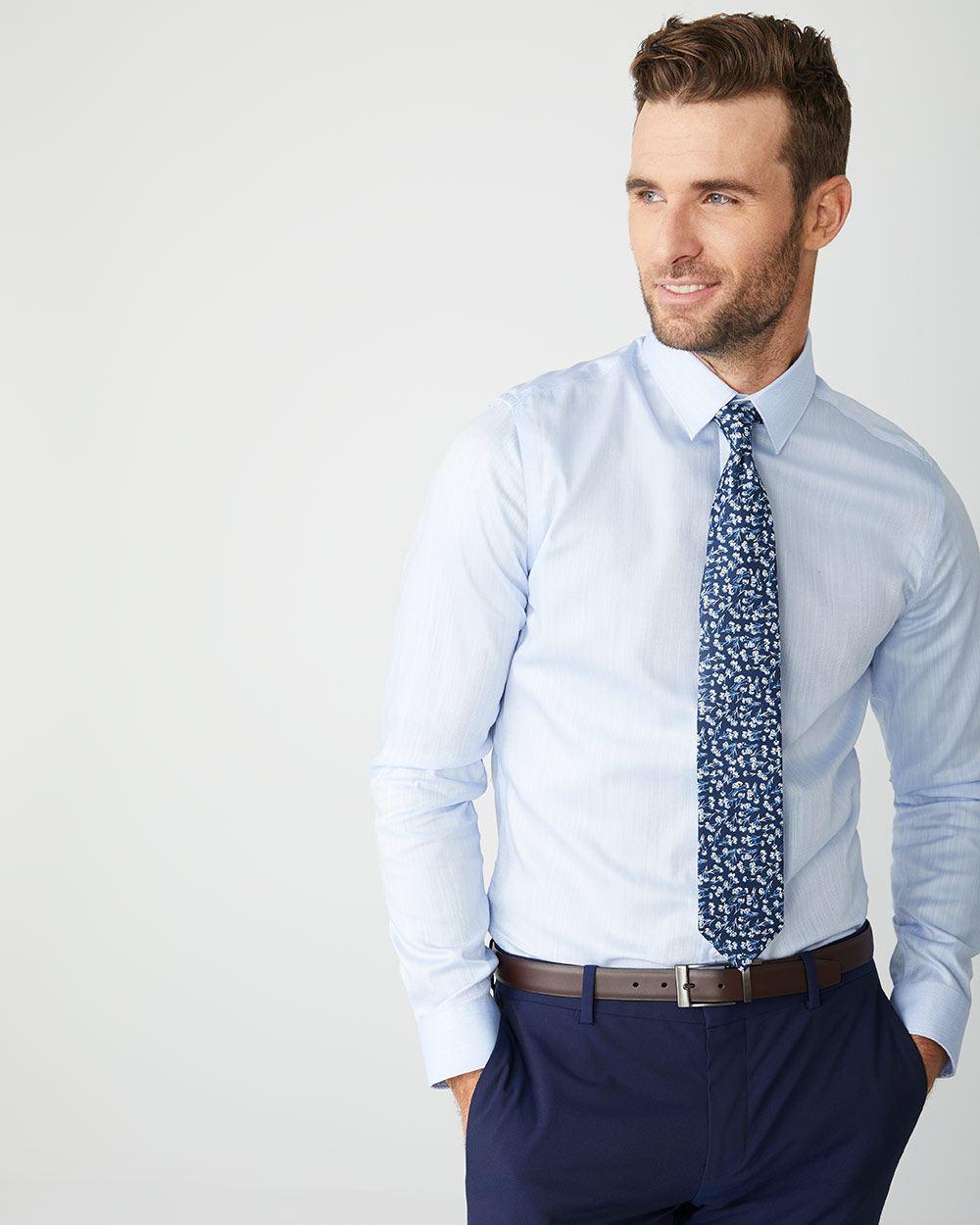 22c0af135 Slim Fit tonal dress shirt   RW&CO.