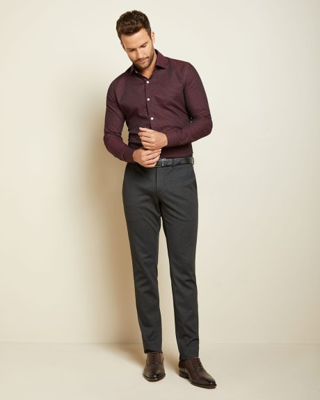 Tailored Fit dots and lozenges dress shirt