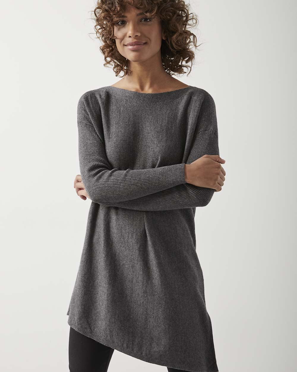 C&G Asymmetrical tunic sweater