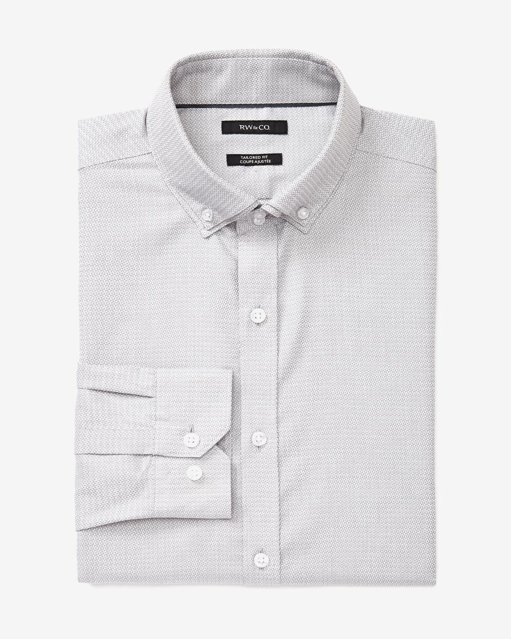 Tailored fit double collar dress shirt rw co for Tailored fit dress shirts
