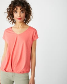 Pleated hem Relaxed-fit t-shirt