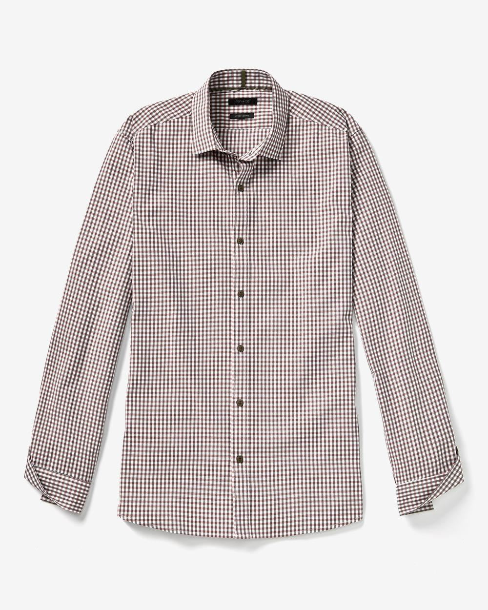 663ed3ed4b89f7 FITTED LONG SLEEVE SHIRT IN HEATHER CHECK