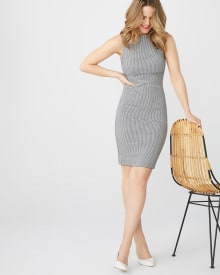 gingham Sheath City dress
