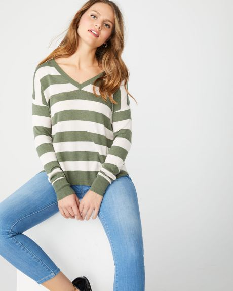 Striped loose fit sweater
