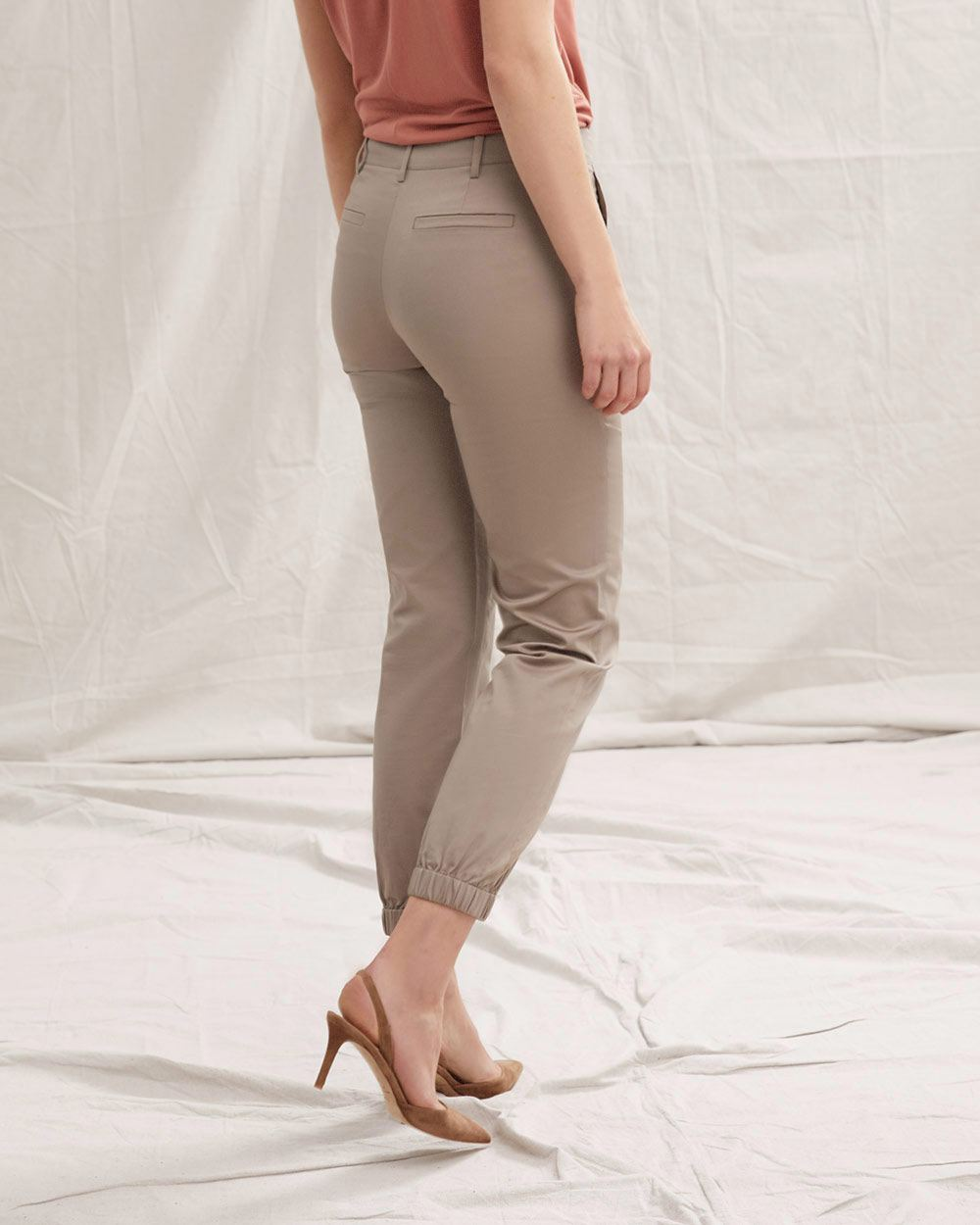 Cotton and Linen Jogger Pant - 28""