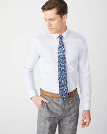 Slim fit light dot dress shirt - Short