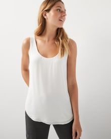 Silky Crepe Cami Blouse with Plunging front and back neckline