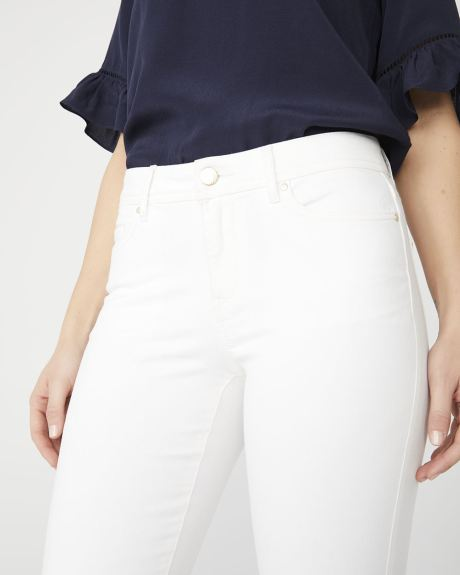 Natalie Mid-rise ankle jegging in white denim