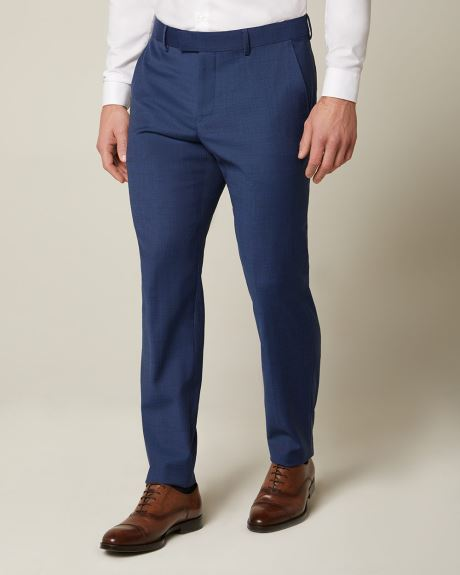 Essential Athletic Fit blue wool-blend pant
