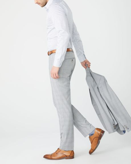 Slim Fit grey and blue check suit Pant