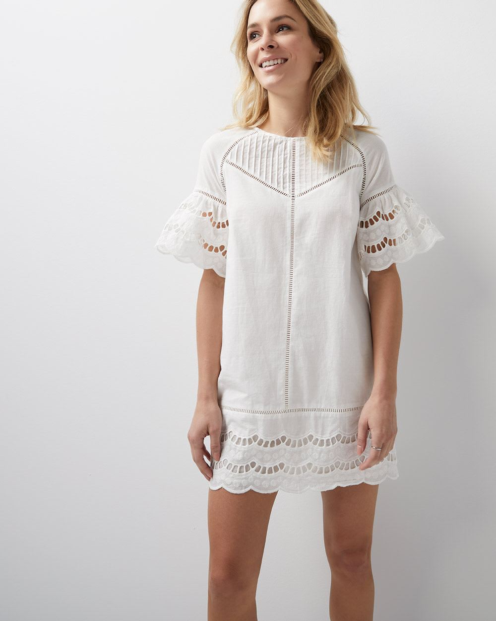 90575ca3df3a6 Scalloped shift dress by Adelyn Rae