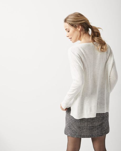 Cashmere-like loose fit sweater