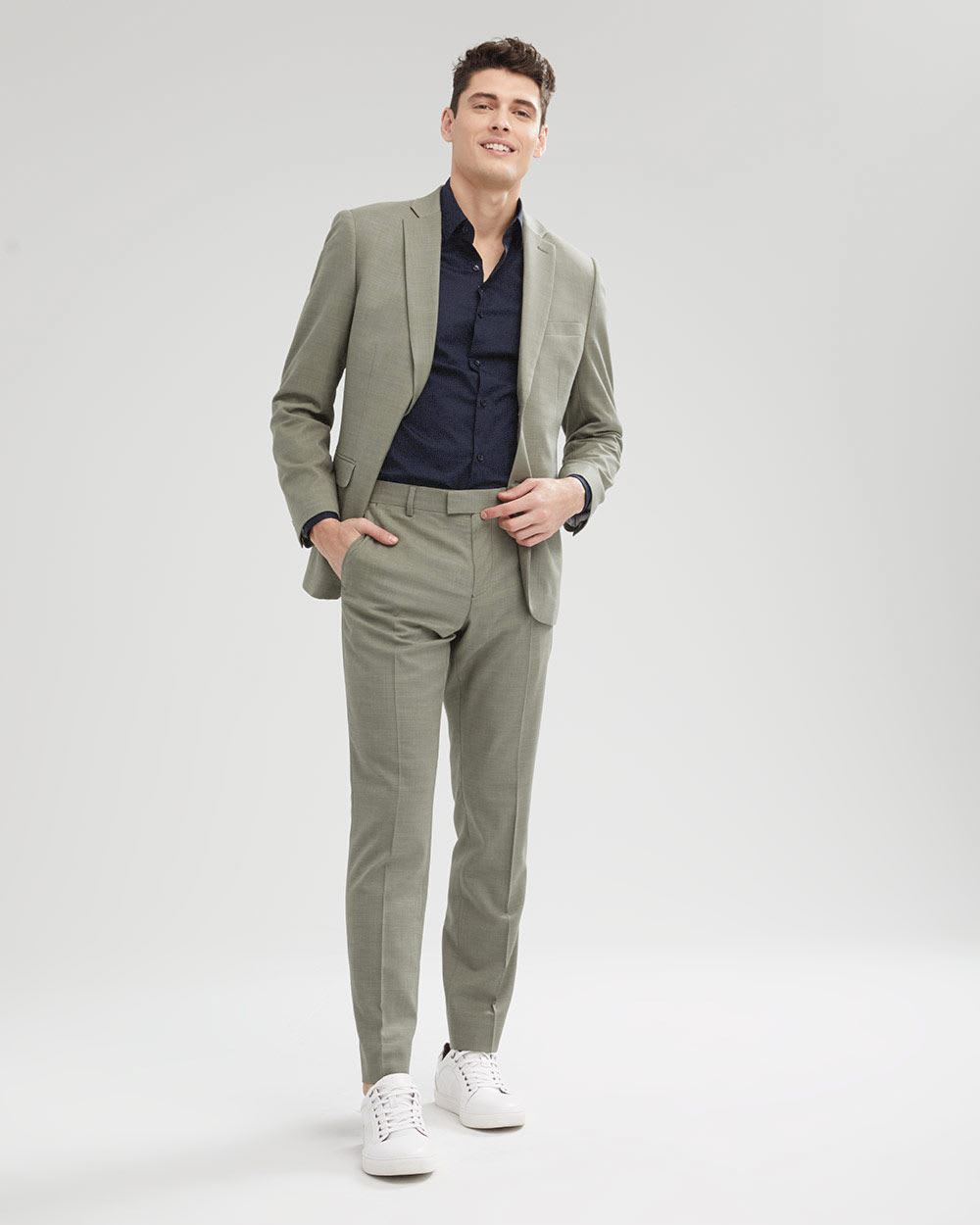 Tailored Fit Soft Moss Suit Pant