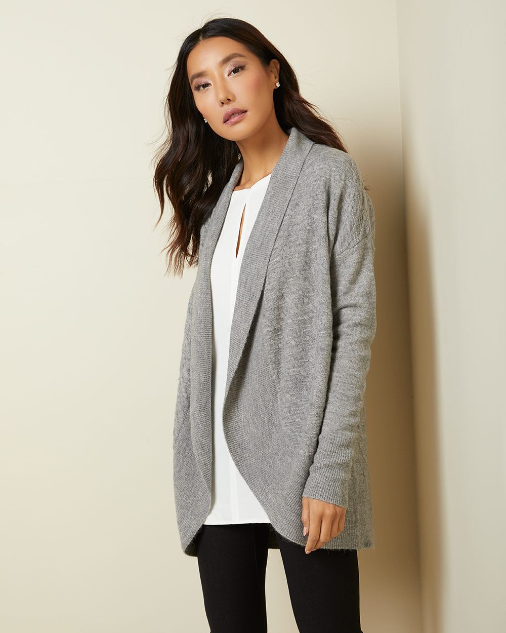 C&G Spongy knit cocoon cardigan