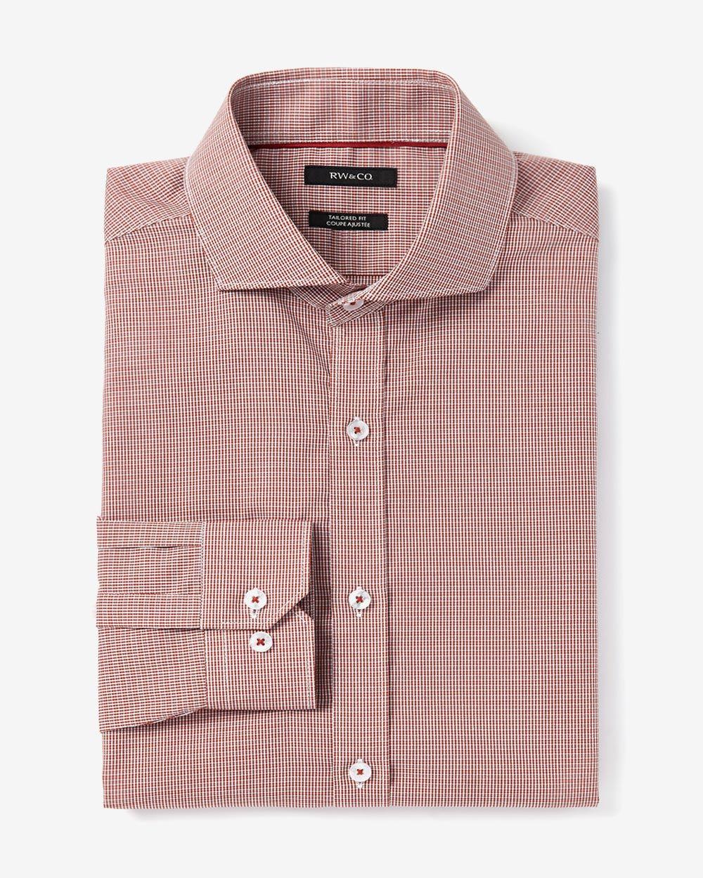 Tailored fit two tone poplin dress shirt rw co for Tailored fit dress shirts