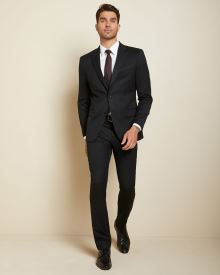 Slim Fit Black Wool Suit Blazer