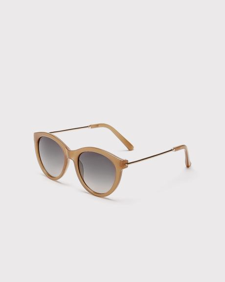 Clear Rounded frame Sunglasses
