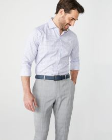 Tailored fit pastel check dress shirt