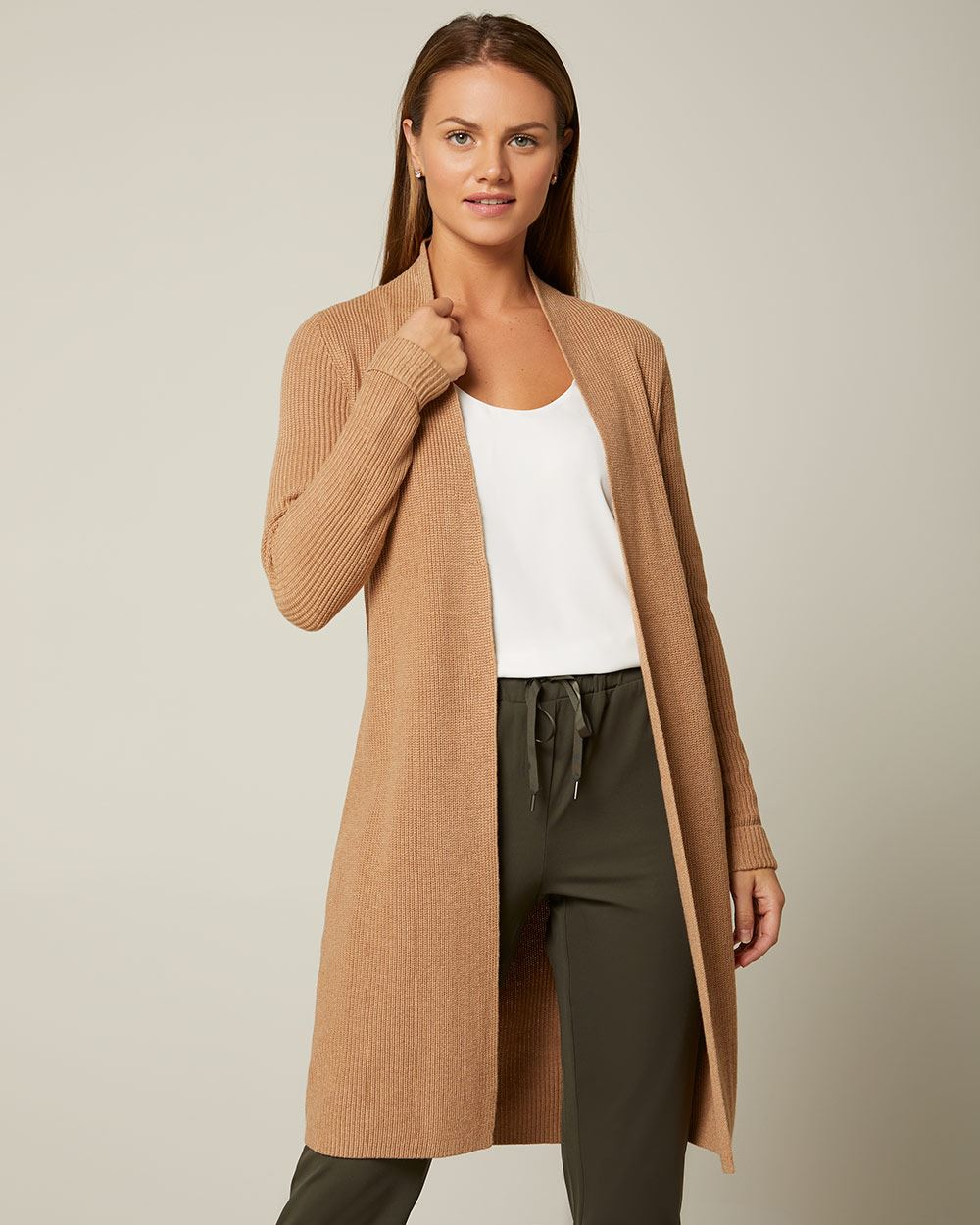 C&G Open-front duster cardigan