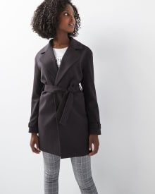 C&G Tricotine wrap coat