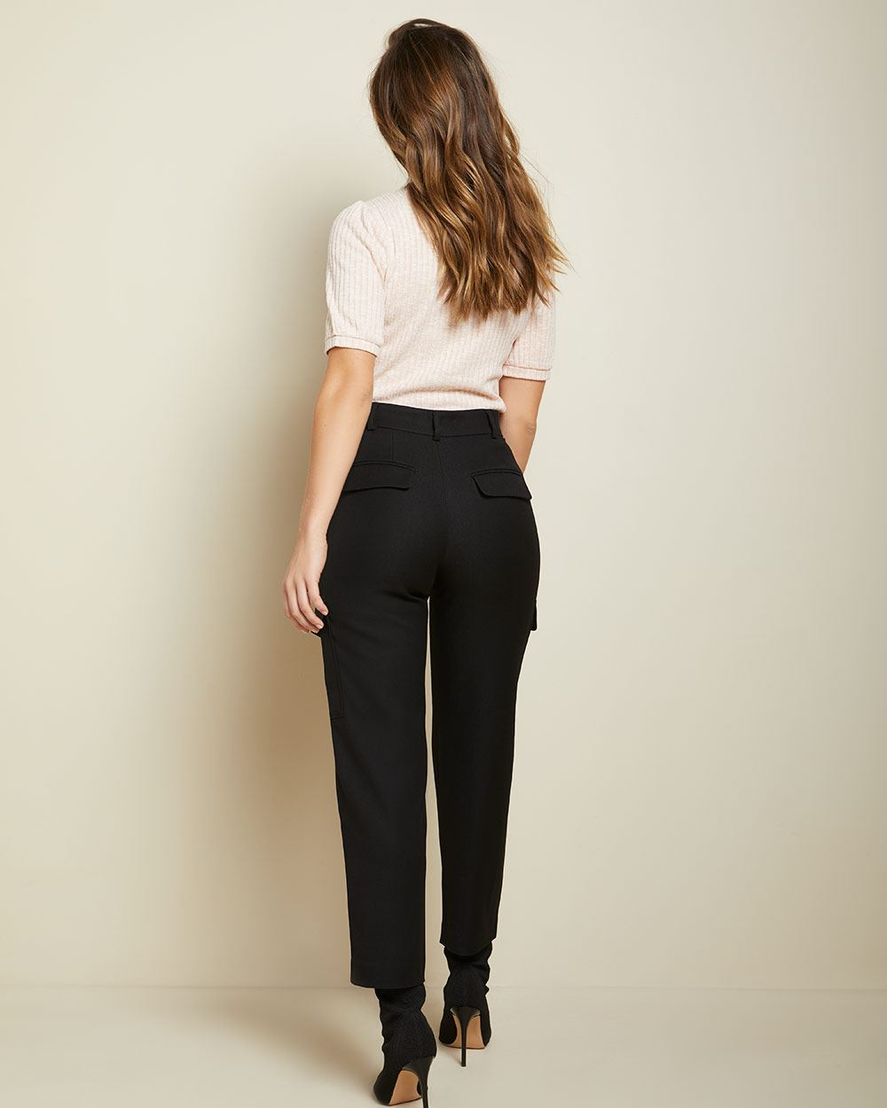 High-waist ankle Cargo pant