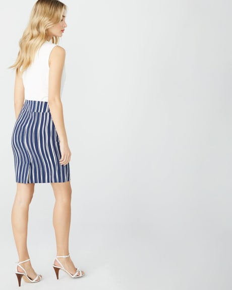 Striped pencil City Skirt - 21''