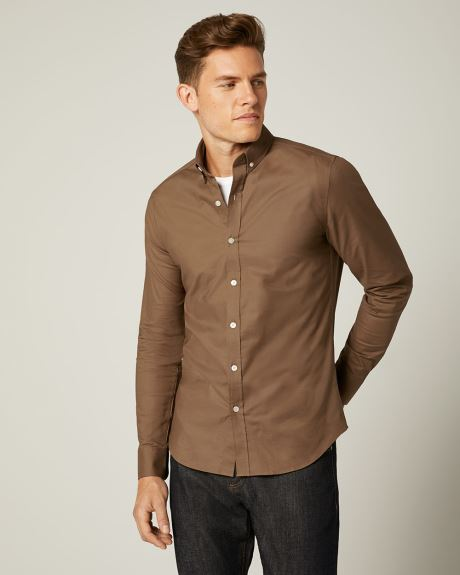 Slim Fit Solid Oxford Shirt