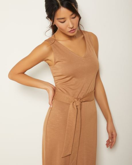 Belted tank dress