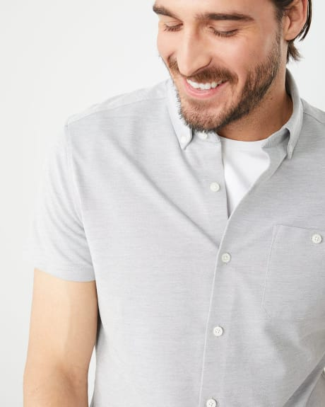 Slim fit short sleeve Stretch solid shirt